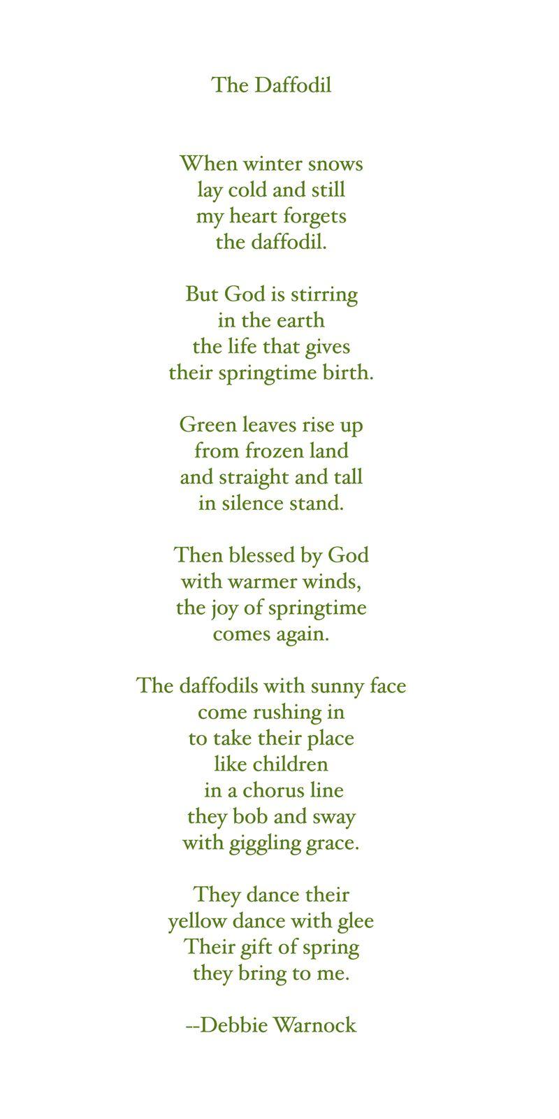 The Daffodil poem
