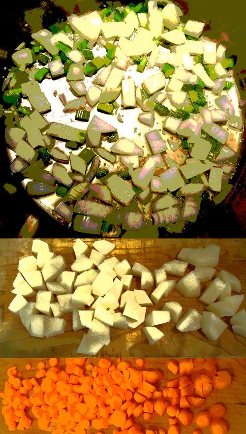 Onions potatoes carrots